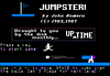 Jumpster : Jumpster was a crazy little game that I came up with in 1983 while I was just getting a hold of mastering 6502 Assembly Language.  Eventually this game was published in UpTime Disk Monthly in 1987!